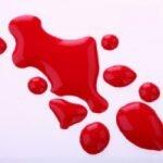 крапли крови