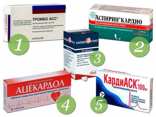 Антитромбоцитарные препараты препятствуют агрегации тромбоцитов